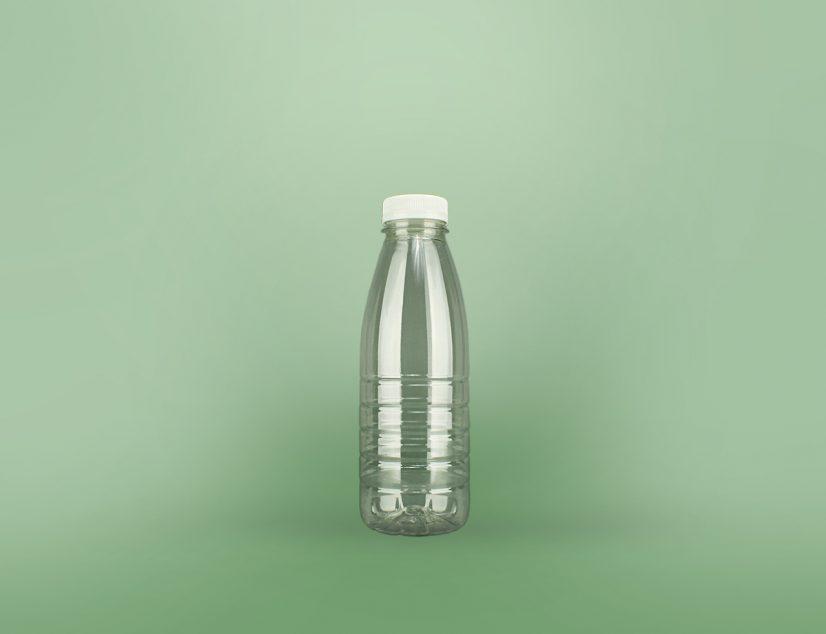 Купить ПЭТ бутылка для молока 500 мл. Пластиковая молочная бутылка с крышкой.